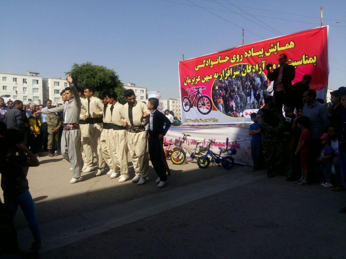 همایش پیاده روی خانوادگی در شهرک دولت آباد کرمانشاه